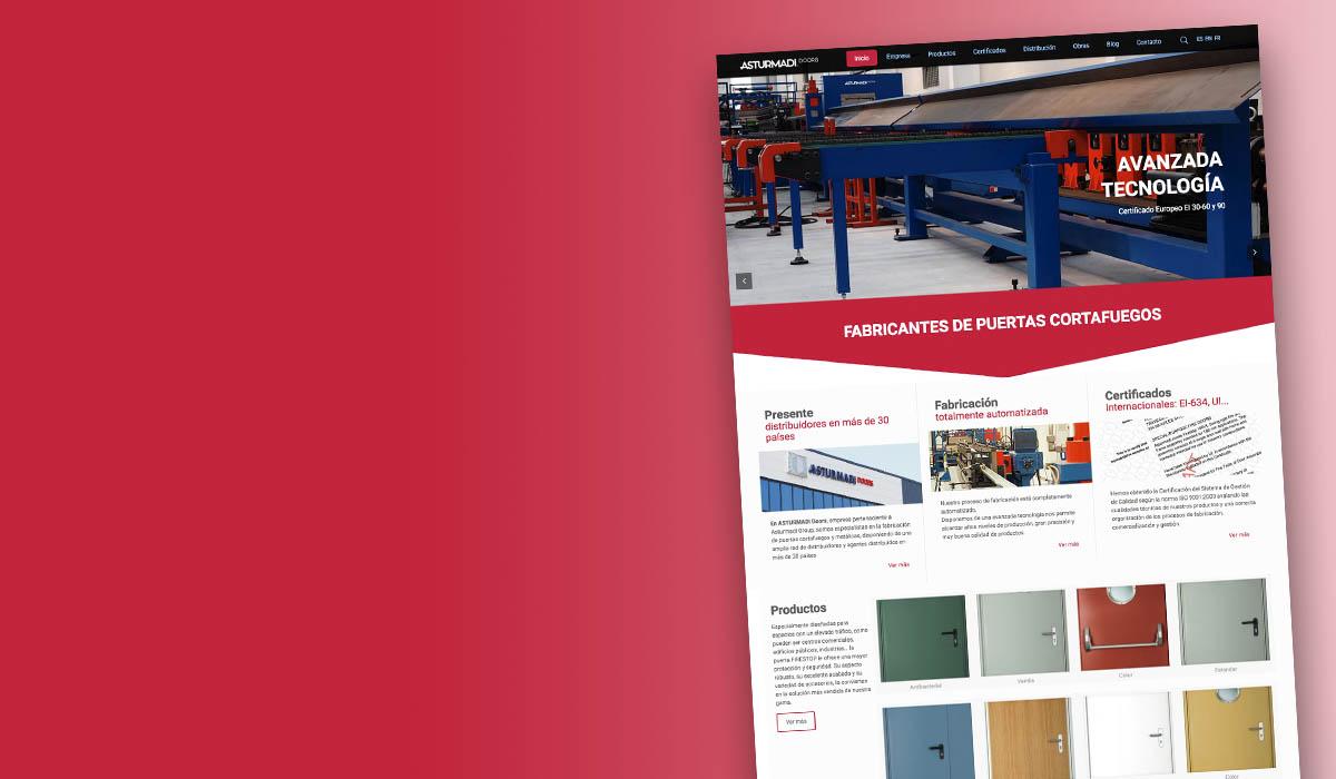 DIMAGEN creativos - diseño páginas web - Asturmadi doors