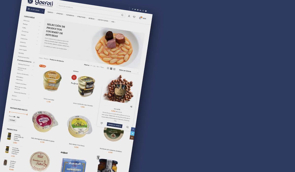 DIMAGEN creativos - diseño tiendas online en Avilés - charcutería Gorfoli productos asturianos