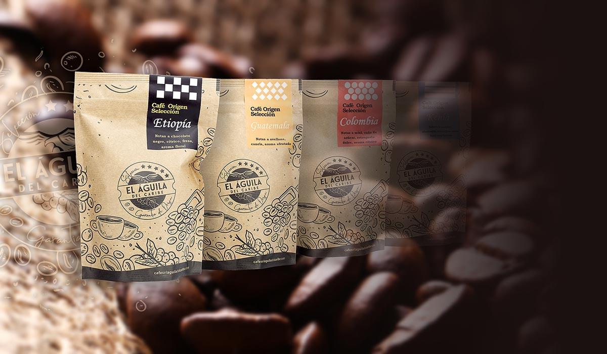 DIMAGEN creativos - cafés Origen Selección de El Aguila del Caribe - imagen de producto